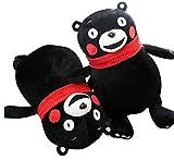 miaoyu Peluche de peluche Toyuffed 18 cm lindo Kawaii Mini lindo oso Kumamon peluche peluche muñecas de mascota con bufanda roja