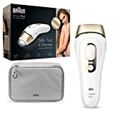 Braun Silk-expert Pro 5 Depiladora Mujer Luz Pulsada IPL y Maquinilla de Afeitar Venus, Depilación Permanente del Vello Visible en Casa, Unisex, PL 5014MN, Blanco/Dorado