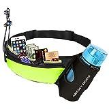 Riñonera Deportivo Cinturón Running Belt con Botella Agua Bolsa Impermeable, Conveniente para iPhone 8/8 plus/X/XS/XS MAX/XR, Para Deportes Al Aire Libre Fitness Senderismo, Ciclismo, Jogging, Caminar
