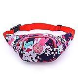 Deporte al aire libre Portable Cygoshop mujeres senderismo riñonera bolsa de viaje yodismo mix color