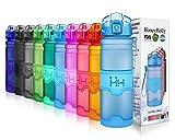 HoneyHolly Botella de Agua Deporte 700ml/Matte-Azul, sin bpa tritan plastico, Reutilizables a Prueba de Fugas Botellas Potable con Filtro para niños, Colegio, Sport, Gimnasio, Trekking, Bicicleta