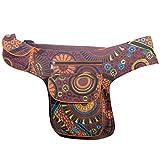 Kunst und Magie - Bolso al hombro de algodón para mujer marrón marrón