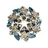 Xuejuanshop Broche Pin Escudo de Cachemir Pin decoración Creativa Salvaje de la Bufanda Bufandas Clip Hebilla de Doble Uso de la Broche de Accesorios suéter Prendedores Decoración de Ropa