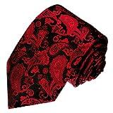 Lorenzo Cana–Luxus–Corbata 100% seda rojo negro Paisely alta calidad hecha a mano seda corbata 84217