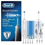 Oral-B Estación De Cuidado Bucal: Oral-B Smart 5000 Cepillo De Dientes Eléctrico + Irrigador Con Tecnología Oxyjet De Braun, 4 Cabezales Oxyjet, 6 Cabezales De Recambio. Se Conecta Con Bluetooth
