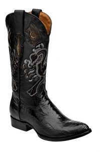 botas cowboy piel pata avestruz hombre