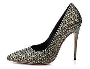 zapato para mujer con patron de avestruz