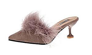 zapatos de piel de avestruz de mujer