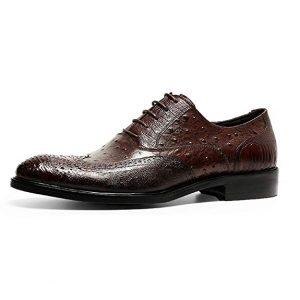 Zapatos de piel de avestruz hombre