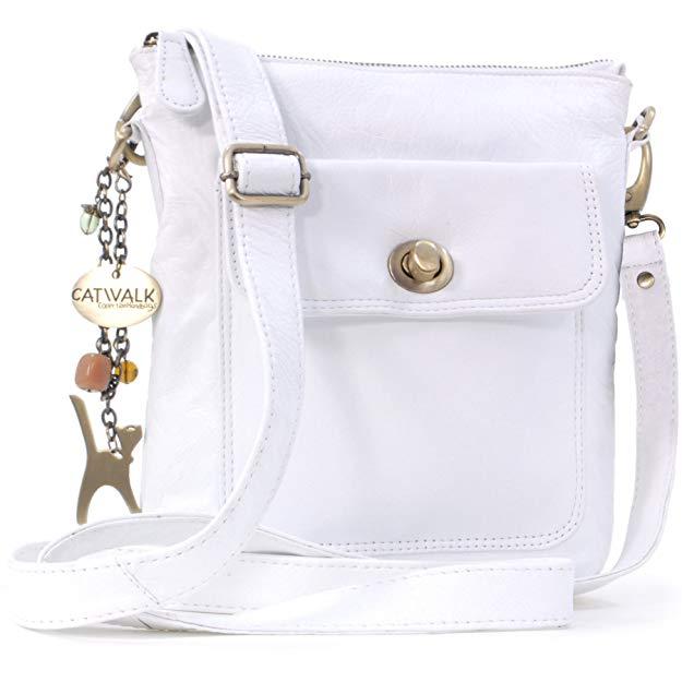 mochila bandolera blanca catwalk