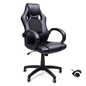 silla para emprendedores negra Songmics