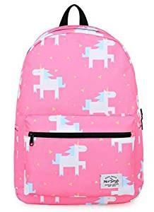 Mochila Escolar TrendMax Rosa de Unicornios Kawaii