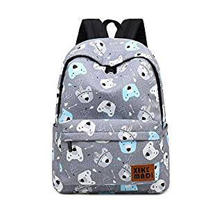 Mochilas de oso Kawaii de color gris
