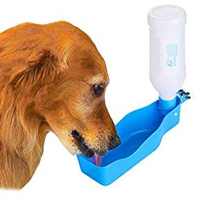Bebedero para perro portátil de botella Wadeo