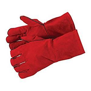 Guantes profesionales para forjar Silverline color Rojo