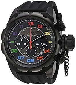 Reloj Suizo marca Invicta con correa de silicona con numeros de colores este reloj tiene gran tamaño
