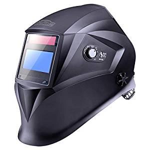 careta para forjar o soldar automática de color negro