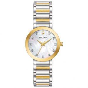 Reloj Suizo Bulova para mujer con movimiento de cuarzo