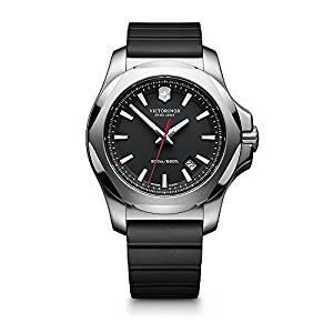 Reloj Suizo Victorinox con cristal de Zafiro correa color negro