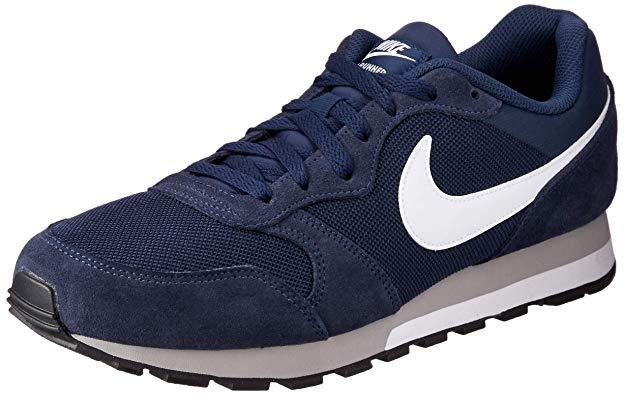 Zapatilla cómoda para andar marca Nike para hombre color azul marino