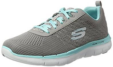 Zapatillas cómodas para andar de mujer Skechers color gris