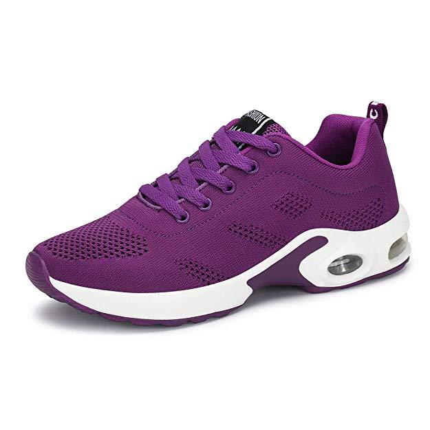 Zapatillas más cómodas para andar de mujer color purpura
