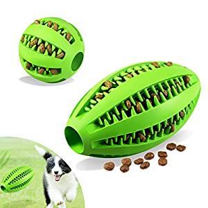 Juguete de goma para masticar para perros pequeños de color verde