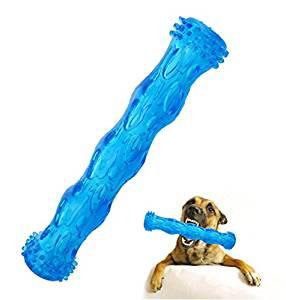 Juguete interactivo para masticar para perros grandes de color azul