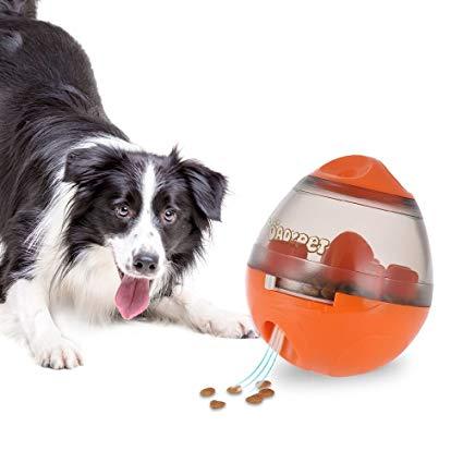Juguete interactivo para perro pelota color naranja