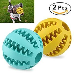 juguete interactivo masticable para perros con forma de pelota