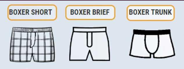 Tipos de ropa interior bóxer