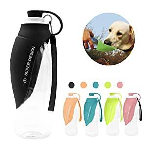 bebedero portatil para perros marca Junbo color negro