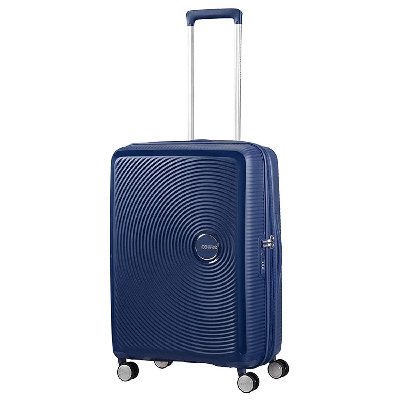 maleta cabina de mano marca American Tourister azul